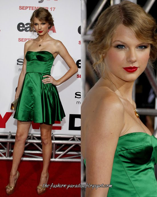 Vestidos verdes zapatos