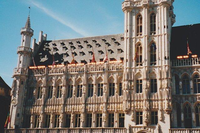 Detalle de la fachada del Ayuntamiento de Bruselas