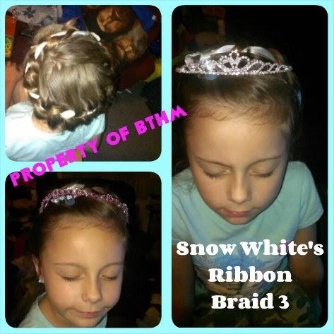 Disney Princess Hairstyles  snow white ribbon braid variation 2