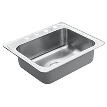 Single Basin Stainless Steel Sink : Single bowl stainless steel sink