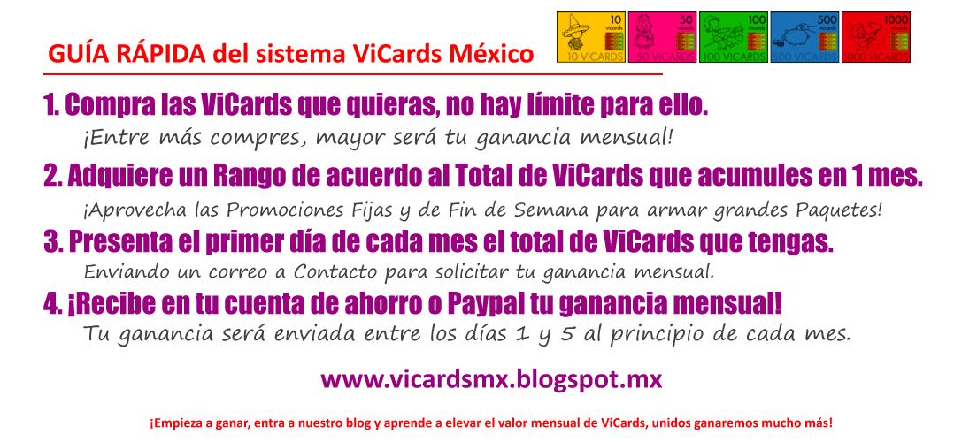 Guía Rápida del sistema ViCards México
