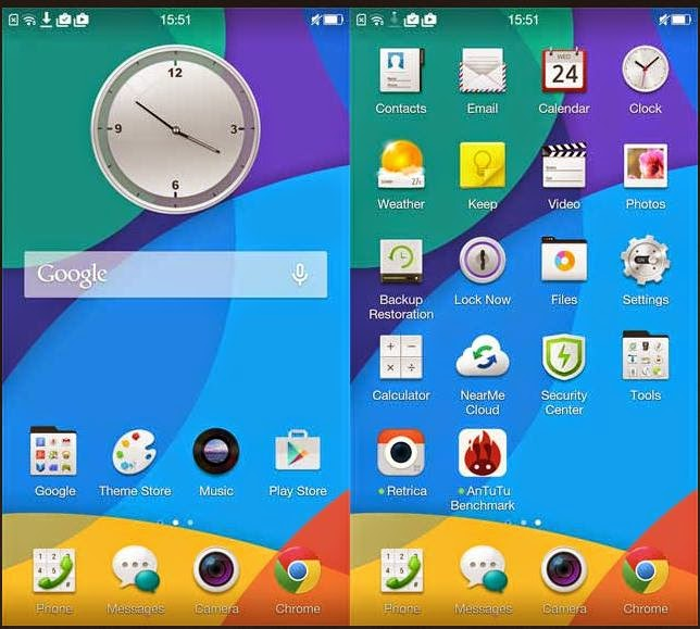 user interface android oppo