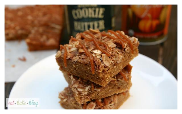 best pumpkin bar recipe streusel topping recipe biscoff bars cookie butter bars
