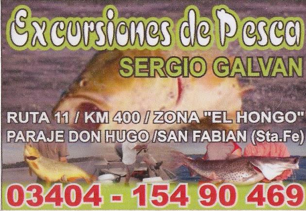 Excursiones de Pesca con Sergio Galvan