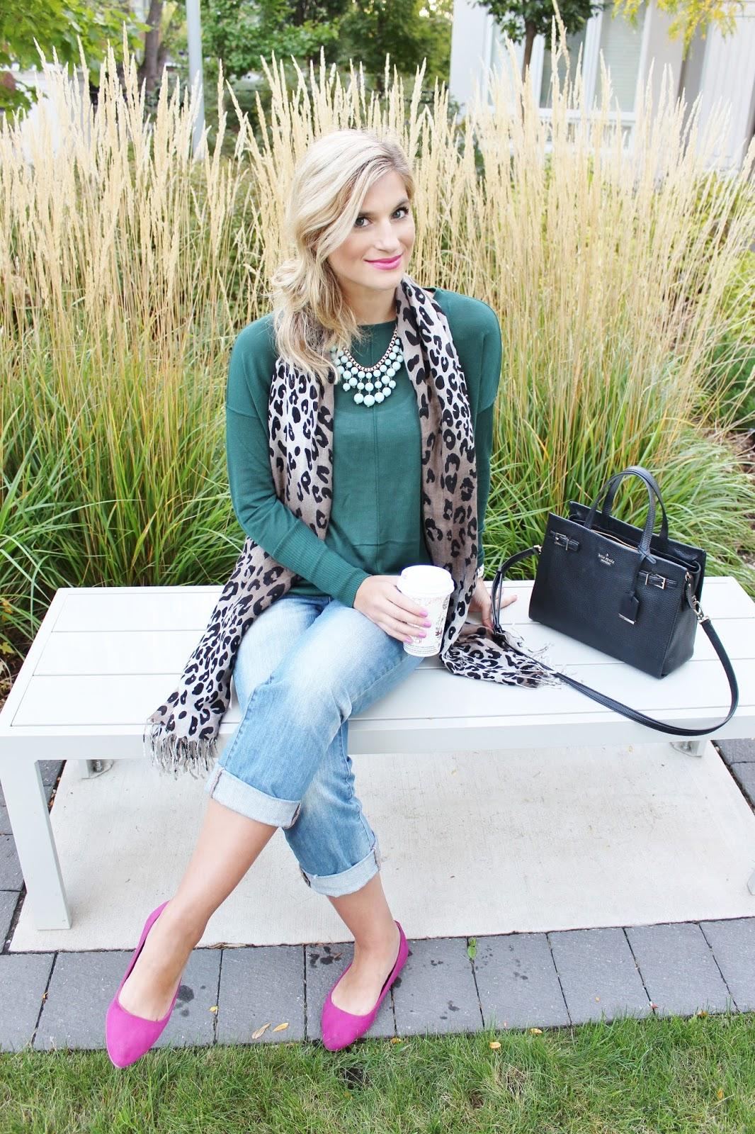 bijuleni - leopard scard and emerald top