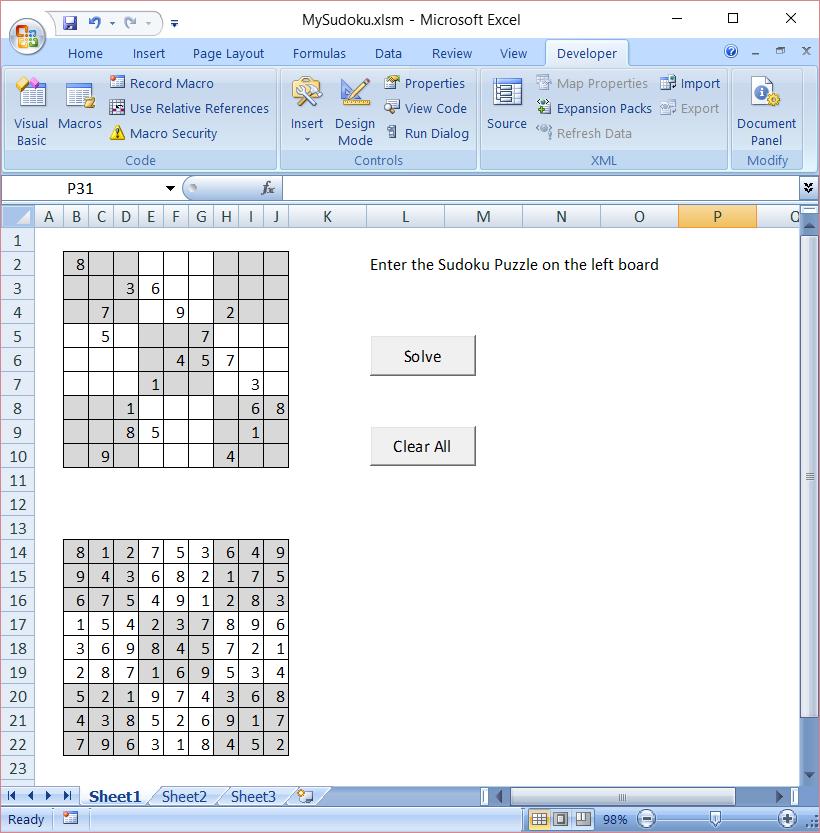 sudoku solver in excel vba boredom creek