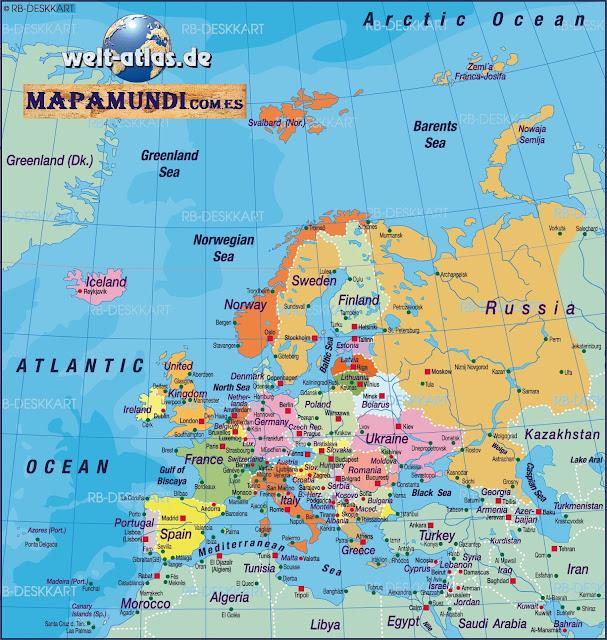 Mapamundi Mapa de Europa politico