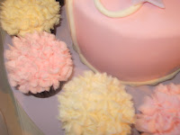 Baby Shower Flower top buttercream cupcakes