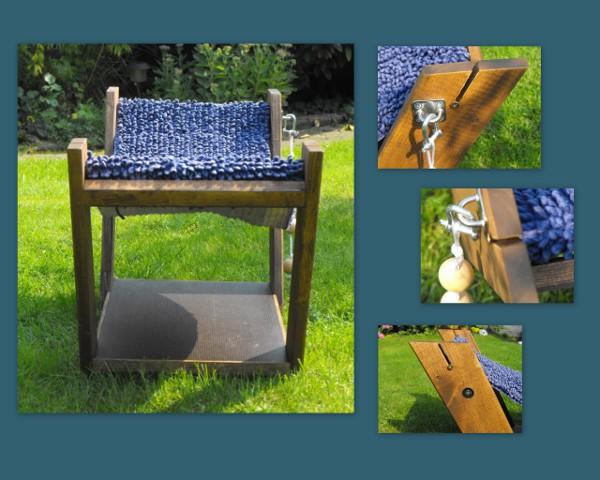 nunu s garn und stofflabor alt und neu neues vom holzwurm eine h ngematte f r baffi. Black Bedroom Furniture Sets. Home Design Ideas