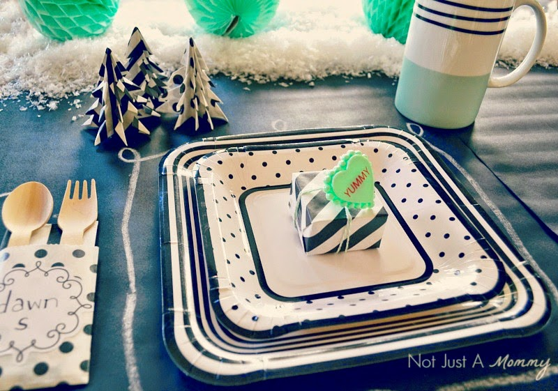 Christmas Crafting With Bitty Bags placesetting