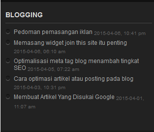 Membuat widget feed list post di blog