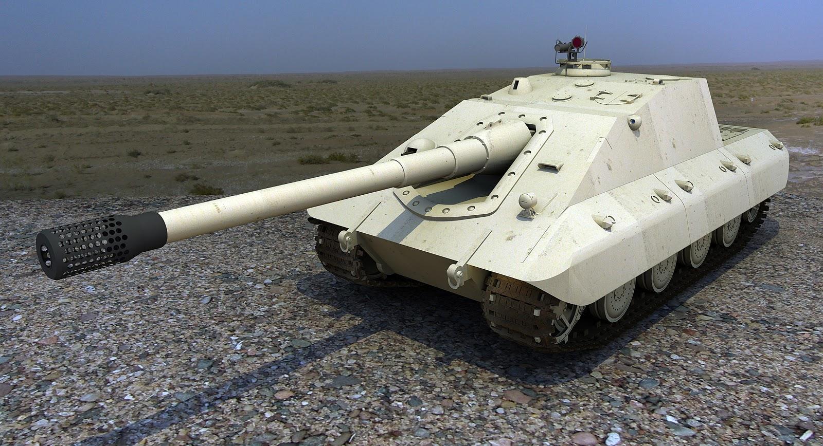 SketchUP Power 草圖力量: E100 JAGDPANZER 坦克殲擊車