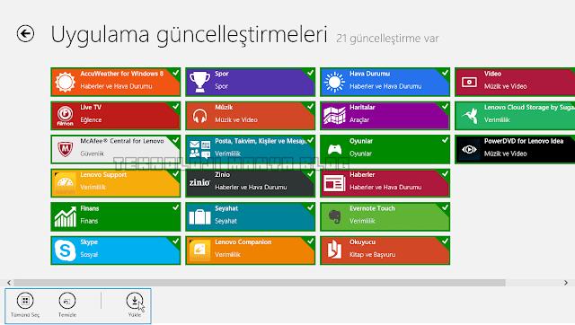 Windows 8 Uygulama Güncelleme