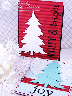 SRM Stickers Blog - Modern & Bright {Clean and Simple Christmas Cards} by Lesley - #card #cards #christmas #BIGmerry #clearstamps #doilies