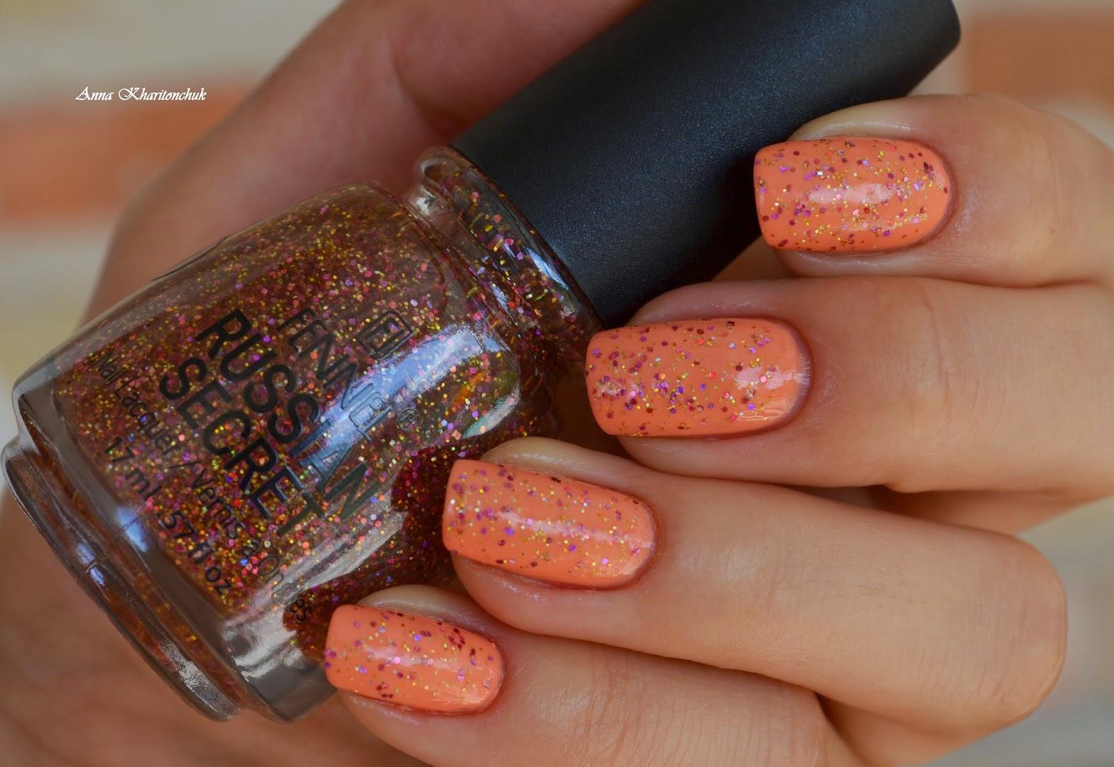 Kiko 359 Light Peach и топ Fennel Russian Secret # 304
