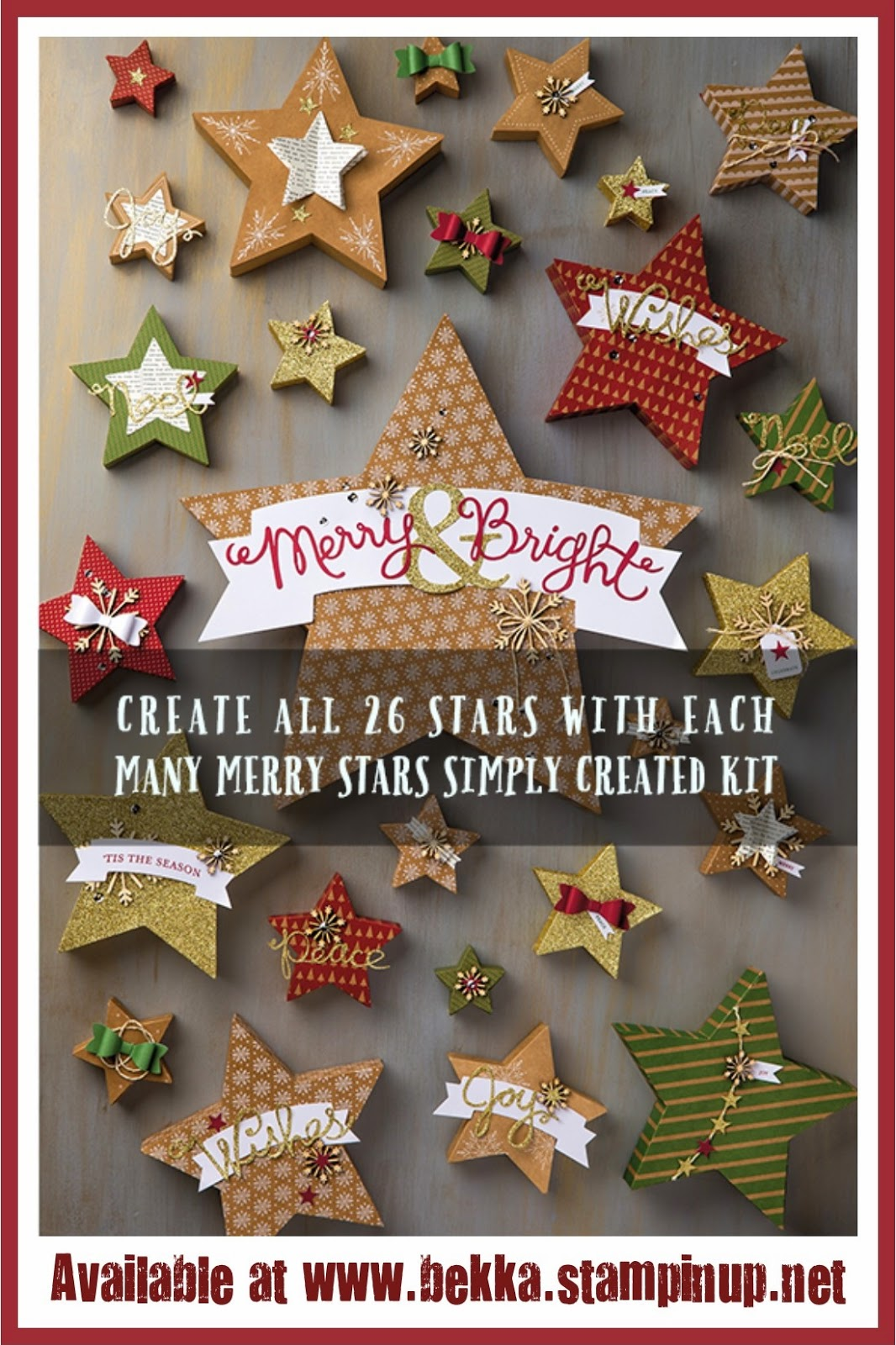 Fast Fabulous Christmas Craft Products available at www.bekka.stampinup.net