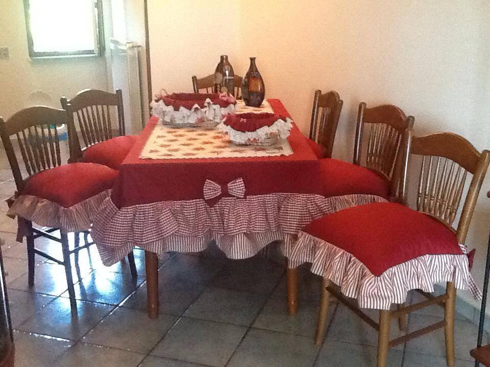Ideas mil ideas mantel y cojines para sillas a juego for Cojines para sillas walmart