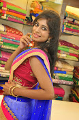 Mounika Reddy Glam pics in Half saree-thumbnail-7