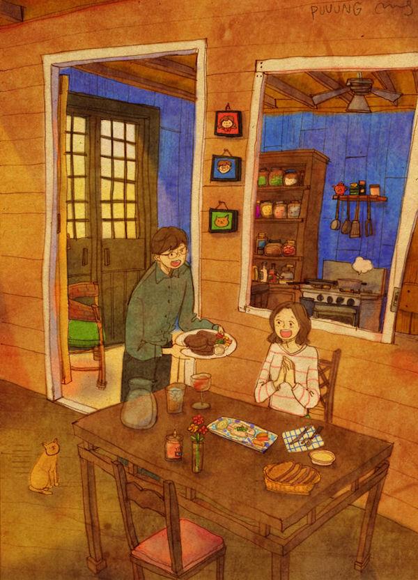Cocinar para pareja