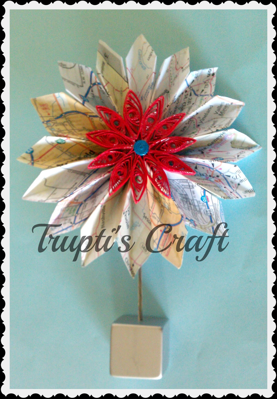 Truptis Craft Origami Flowers With Map
