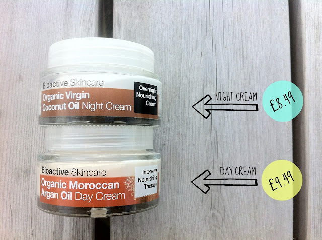 Dr Organic day and night cream with prices