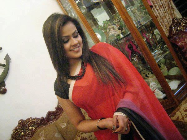 Hot Kannada Aunties Red Saree Images