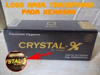 LOGO KEMASAN CRYSTAL X ASLI