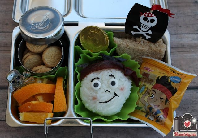 Jake and the Neverland Pirates school lunch in our Planetbox Shuttle lunchbox - mamabelly.com