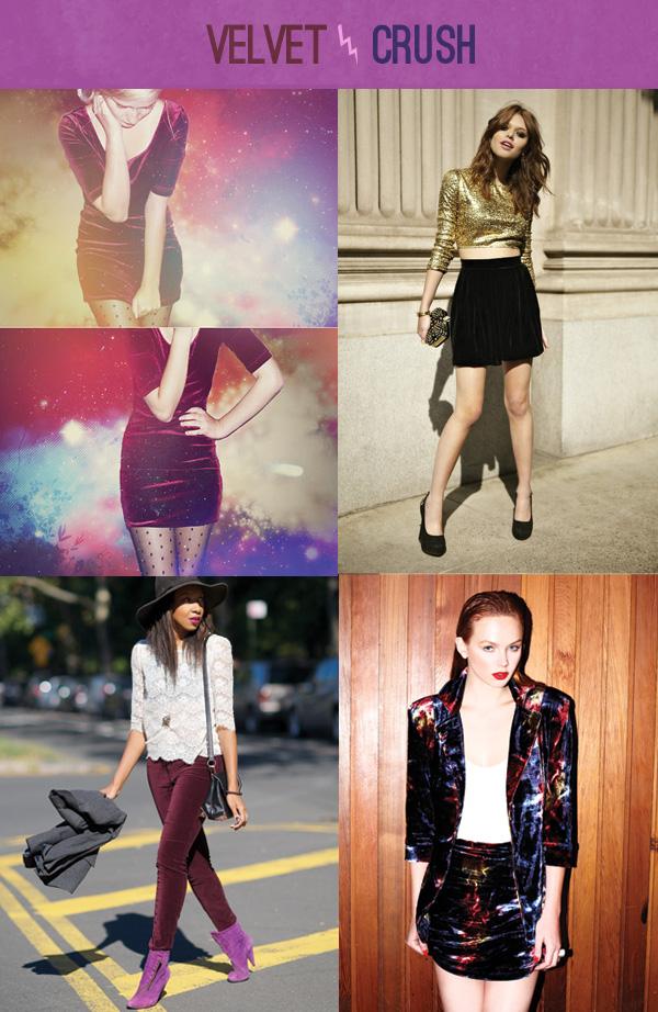 TRENDING: velvet fashion
