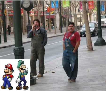 15 Orang yang Mirip Tokoh Kartun: Mario Bros