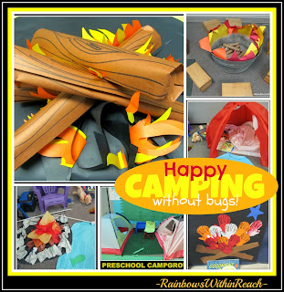 photo of: &quot;Camping&quot; as a Learning Center, complete with campfires and tents