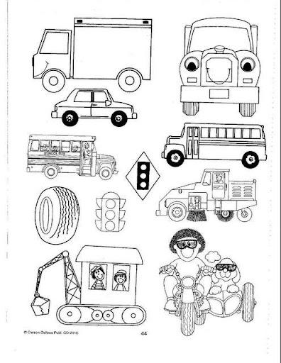 Dibujos para imprimir y colorear: Dibujos de transportes para colorear