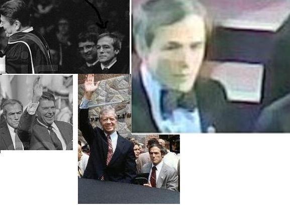 Agent Robert DeProspero with President Carter & Reagan