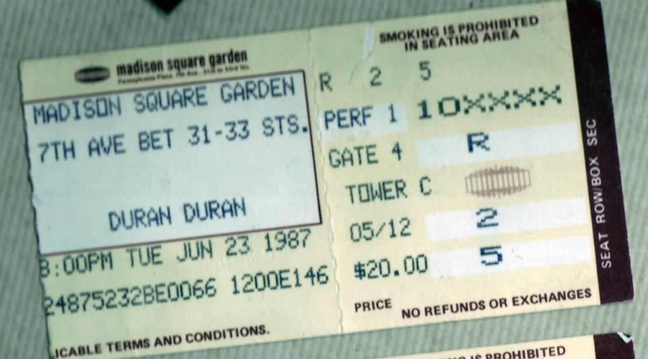 Duran Duran Concert Memories The Third One My Simon