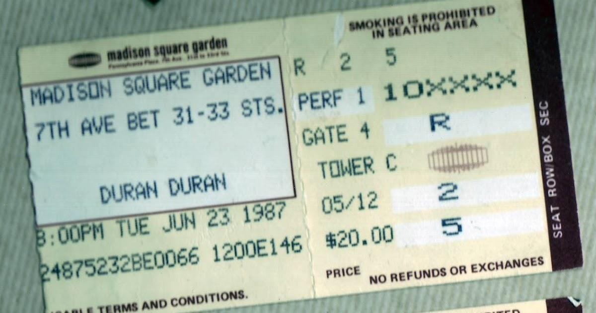 Duran Duran Concert Memories The Third One My Simon Lebon Moment Madison Square Garden