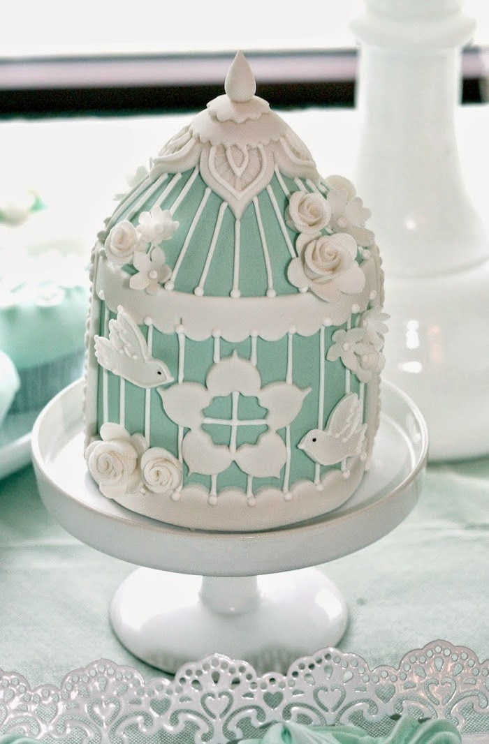 White and Mint Baptism/Christening theme party