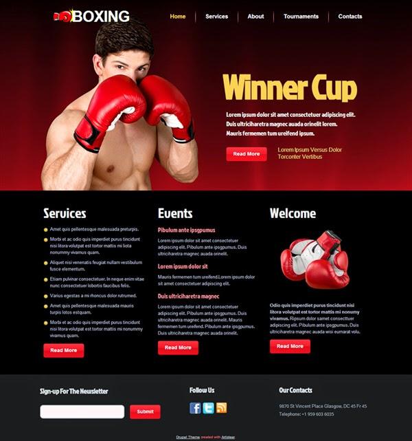 Boxing - Free Drupal Theme