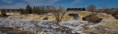 Louis river during full spring melt, Chris Baer, Minnesota, Duluth
