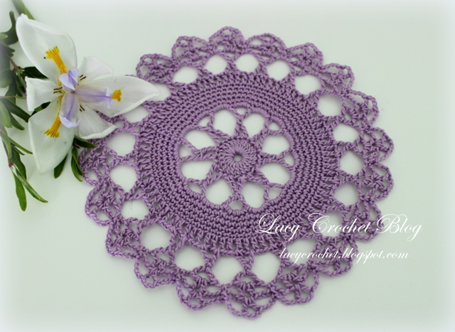 Free Crochet Patterns For Small Motifs : Lacy Crochet: Small Doily Motif and Crochet Tablecloth ...