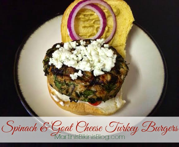 Spinach & Goat Cheese Turkey Burgers - Martinis & Bikinis