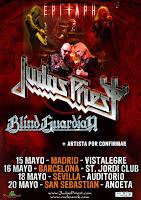 Judas Priest en Sevilla, actuación el 18 de mayo de 2012 en el Auditorio de La Cartuja junto a Blind Guardian