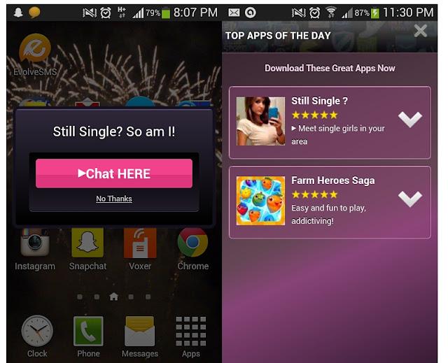 Iklan Popup dari Developer Cheetah Mobile