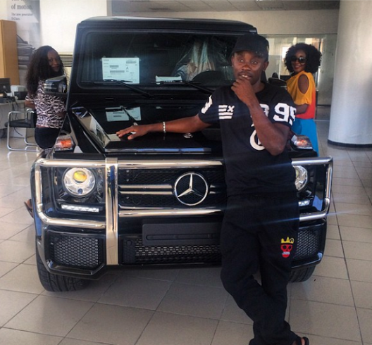Ini Edo Steps Up Her Game, Buys Brand New 2014 G-Wagon – Photo