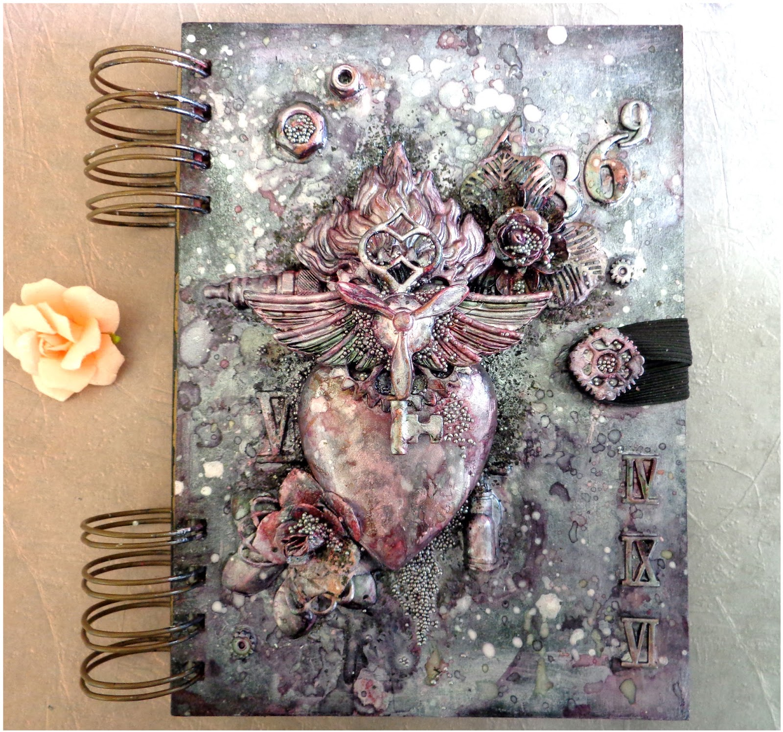 Art Journal Calendar Tutorial : Arts art journal cover with step by tutorial