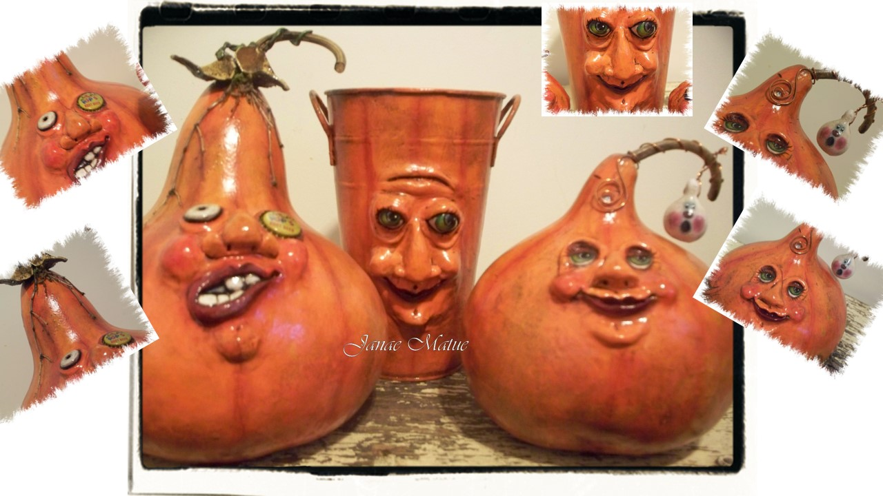 Wel e to The Country Hollow s blog Sculpted Halloween Gourds