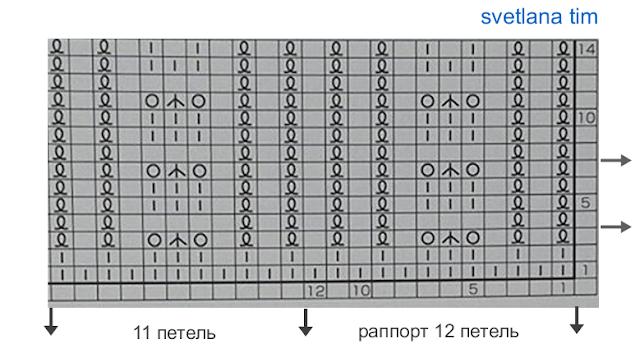 Японская резинка спицами схема вязания 100