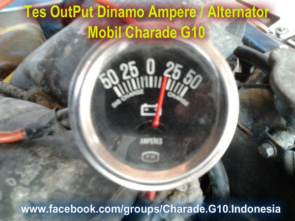 Daihatsu Charade G10 Indonesia  Tes Output Dinamo Ampere