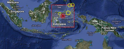Terremoto de 6,1 grados en Sulawesi, Indonesia, 17 de Diciembre 2012