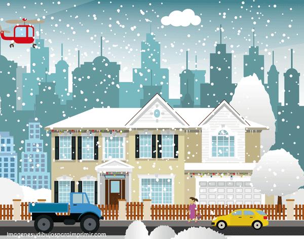 casa nevada para imprimir