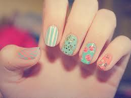 spring nails pastels